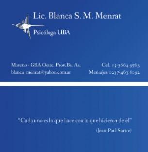 Tarjetas realizadas para la Psicóloga Blanca Menrat