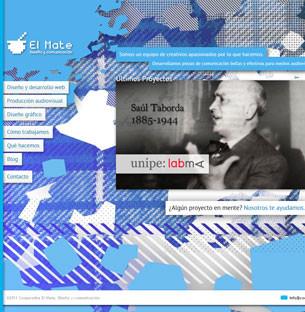 Diseño y Maquetado del sitio web de la Cooperativa El Mate, donde trabajo de forma freelance. Realizado en el año 2011 con HTML 5 y JavaScript