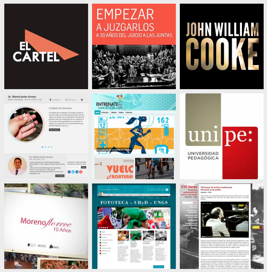 Comunicación, Diseño y Desarrollo Web, Realización audiovisual y postproducción
