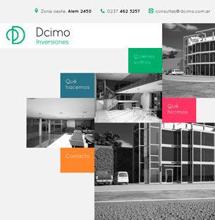 Maquetado de sitio web responsivo autoadministrable para Dcimo Inversiones